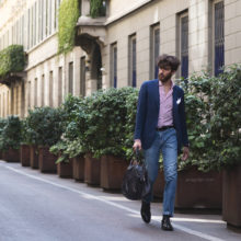 Campaign for a men's clothing brand in Milan, Italy